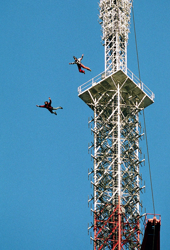 HFT In My Backyard II Sniper In Mahwah Friends - Crazy guy base jumps radio tower