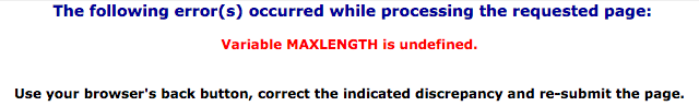FCC MAXLENGTH